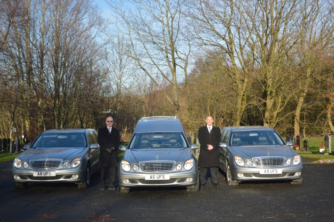 hearse and limousines